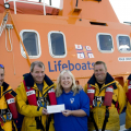 Picture:Brian Green -  11/08/2010 - RNLI - Deutschebank cheque pres - Veronica Gould