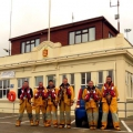 Some of the St Peter Port Lifeboat Crew below their Lifeboat Shed 13-10-14 Pic by Tony Rive (1).jpg
