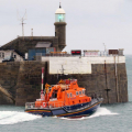Lifeboat Spirit of Guernsey leaving St Peter Port on a shout to the West coast 22-12-15 Pic by Tony Rive (2)