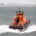 Lifeboat Spirit of Guernsey leaving St Peter Port on a shout to the West coast 22-12-15 Pic by Tony Rive (3)