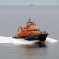The St Peter Port Lifeboat passing St Martin's Point on a Shout 18-05-10 Pic by Tony Rive (9)