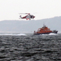 Winching Exercise with Helicopter and the St Peter Port Lifeboat Spirit of Guernsey 23-03-17 Pic by Tony Rive (5)