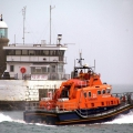 Lifeboat Spirit of Guernsey heads out of St Peter Port on a shout 14-03-12 Pic by Tony Rive