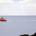 Spirit of Guernsey heading for St Peter Port with the Fishing boat Hayley B in tow 28-10-12 Pic by Tony Rive
