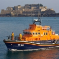 Pic by Tony Rive 26-03-07Spirit of Guernsey leaving it's mooring before picking up some more crew, before heading out on Exercise with the RNLI's Inspector's