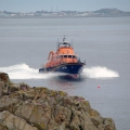 The St Peter Port Lifeboat passing St Martin's Point on a Shout 18-05-10 Pic by Tony Rive (3)
