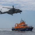 Lifeboat / helicopter exercise - photo by Jon Le Ray