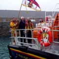 Sir Fabian and Lady Malbon board Spirit of Guernsey as they leave Guernsey 23-02-11 Pic by Tony Rive (5)