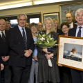 Picture:Brian Green - 14/02/11 - Presentation to Sir Fabian and Lady Melbon by RNLI branch members and the crew of Spirit of Guernsey - More info from John Webster - M&G