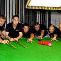 Pic by Tony Rive 08-10-10 The Six man Snooker Team that completed a 24 hour Marathon helping to raise £3,500.00 for the Local RNLI.