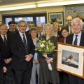 Picture:Brian Green - 14/02/11 - Presentation to Sir Fabian and Lady Melbon by RNLI branch members and the crew of Spirirt of Guernsey - More in from John Webster - M&G