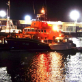 7m French Merry Fisher motor cruiser alongside Daniel L Gibson Pic by Tony Rive