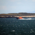 Lifeboat Volunteer Spirit heading NW through the Corbet Passage 23-10-16 Pic by Tony Rive