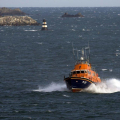 Lifeboat Volunteer Spirit heading for St Peter Port at the end of an Exercise 23-10-16 Pic by Tony Rive