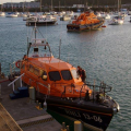 Lifeboats  13-06 Edmund Hawthorn Micklewood and Daniel L Gibson 17-38 in St Peter Port harbour 01-11-14 Pic by Tony Rive (1).jpg