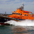 Relief Lifeboat Daniel L Gibson arriving in Guernsey