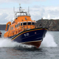 Relief Lifeboat Volunteer Spirit arriving from Plymouth to St Peter Port 10-10-16 Pic by Tony Rive (15)