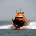 The Relief Lifeboat Daniel L Gibson arriving in Guernsey from Poole 07-06-14 Pic by Tony Rive (1).jpg