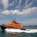 The Relief Lifeboat Daniel L Gibson arriving in Guernsey from Poole 07-06-14 Pic by Tony Rive (6).jpg