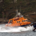 Lifeboat Volunteer Spirit (17-27) passing St Martin's Point whilst arriving from Plymouth 10-10-16 Pic by Tony Rive (2)