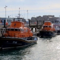 Lifeboats Spirit of Guernsey (17-04) & Volunteer Spirit (17-27) in St Peter Port harbour 23-10-16 Pic by Tony Rive