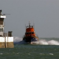 Relief Lifeboat returns to St Peter Port after a shout 12-03-08 Pic by Tony Rive (3)