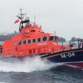 Alderneys Trent class lifeboat Roy Barker 1 on patrol off the Casquets lighthouse - Picture Brian Green