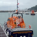 Tamar class Lifeboat from Kilmore Quay, Killarney in St Peter Port 25-08-10 Pic by Tony Rive (1)