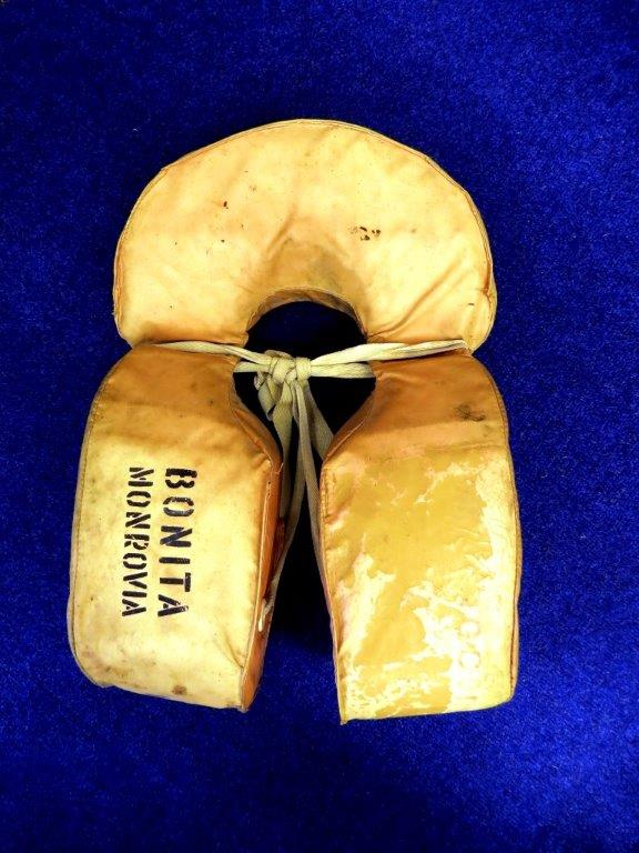 A Life Jacket from the ill fated ship Bonita following the Rescue of the Ship's Crew Dec 13th 1981 26-01-14 Pic by Tony Rive.jpg