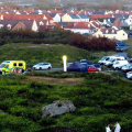 Emergency Services at Grand Rocques headland - photo by Tony Rive