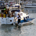 A Mairina Attendant towing yacht Jeanie 3 to the Victoria Marina after being towed to St Peter Port by Lifeboat 29-06-14 Pic by Tony Rive (4).jpg