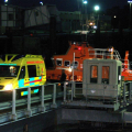 A Male Kayaker inside an Ambulance after arriving in St Peter Port by Lifeboat 16-11-14 Pic by Tony Rive.jpg