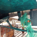 A mass of Green Fishing Net wrapped around Thiody's Prop 29-08-14 Pic by Tony Rive (1).jpg