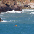 Cliff Rescue of two men from Cliff''s on Guernsey's south coast 10-08-14 Pic by Tony Rive (1).jpg