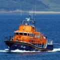 Daniel L Gibson returning to St Peter Port towing local Fishing boat Taoro 19-06-14 Pic by Tony Rive (1).jpg