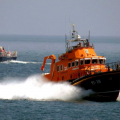 Daniel L Gibson returning to St Peter Port weith a Patient from Sark 19-06-14 Pic by Tony Rive (2).jpg