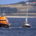 Daniel L Gibson towing French yacht Douze (12)back to St Peter Port 22-08-14 Pic by Tony Rive (1).jpg
