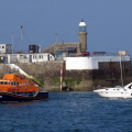 Daniel L Gibson towing the motor boat Wave Dancer into St Peter Port Shout (1) 15-09-14 Pic by Tony Rive (1).jpg