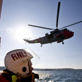Picture Brian Green - Guernsey Lifeboat exercise with RNAS Culdrose