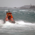 Lifeboat Spirit of Guernsey leaving St Peter Port on a shout to the West coast 22-12-15 Pic by Tony Rive (5)