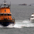 Lifeboat Spirit of Guernsey towing Fair Douze to St Peter Port 10-07-16 Pic by Tony Rive (2)