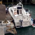 Marina Staff holding Fair Douze alongside Number 1 Ro-Ro Ramp 10-07-16 Pic by Tony Rive