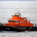 Relief Lifeboat Daniel L Gibson towing the local yacht Majic back to St Peter Port 16-08-14 Pic by Tony Rive (2).jpg