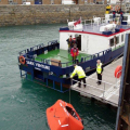Sark Venture rescues French yacht crew 07-02-10 Pic by Tony Rive (4)