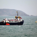 Sark Venture with the rescued crew from French yacht Anita Bomba 07-02-10 Pic by Tony Rive (1)