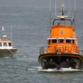 Spirit of Guernsey towing the local Fishing boat Discovery into St Peter Port 30-05-14 Pic by Tony Rive (1).jpg