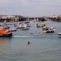 Spirit of Guernsey towing the local Fishing boat Discovery into St Peter Port 30-05-14 Pic by Tony Rive (4).jpg