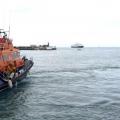 Spirit of Guernsey waiting move alongside yacht Waton 15-05-15 Pic by Tony Rive.jpg
