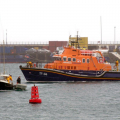 The St Peter Port Lifeboat with the local Yacht Arcady 24-02-10 Pic by Tony Rive (4)
