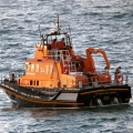 The St Peter Port lifeboat holding station for almost 4 hours to ensure the teenagers were safe - photo by Tony Rive